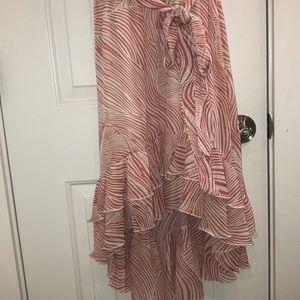 MSK Dresses - MSK Dress with ruffle high/low bottom